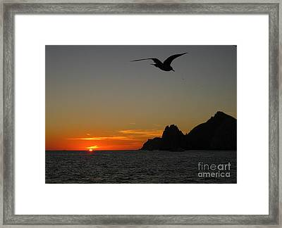 Land's End Sunset Framed Print by Judee Stalmack