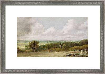 Landscape - Ploughing Scene In Suffolk Framed Print