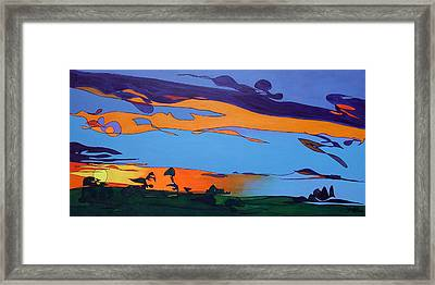 Framed Print featuring the painting Landscape 283 by John Gibbs
