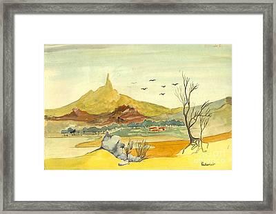 Landscape 4 Framed Print by Padamvir Singh