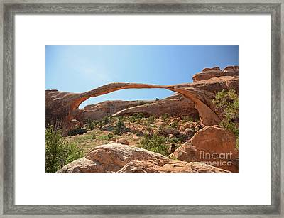 Landscape Arch Framed Print by Cassie Marie Photography