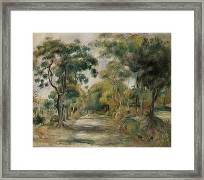 Landscape At Noon Framed Print by  Pierre Auguste Renoir