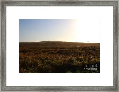 Landscape At Point Reyes California . 7d9958 Framed Print by Wingsdomain Art and Photography