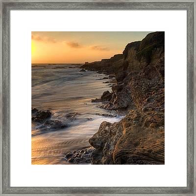 #landscape #landscapelovers #pescadero Framed Print