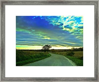 Landscape Mauvezin Framed Print by Sandrine Pelissier