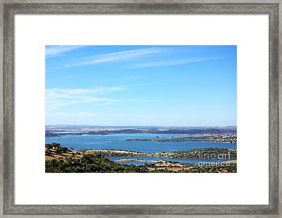 Landscape Of Alqueva Lake Near Monsaraz Village. Framed Print by Inacio Pires