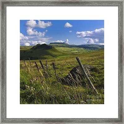 Landscape Of Cezallier. Auvergne. France Framed Print by Bernard Jaubert