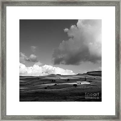 Landscape Of Cezallier In Auvergne. France Framed Print by Bernard Jaubert