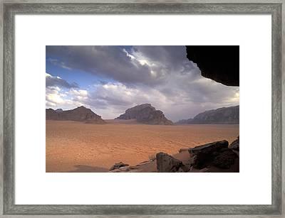 Landscape Of The Desert Framed Print by Richard Nowitz