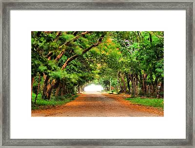 Landscape Painting Showing Road  Framed Print by Parinya Kraivuttinun