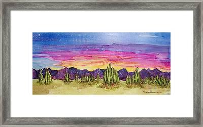 Landscape Framed Print by Regina Ammerman