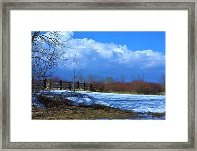 Landscape  Snow Scene Framed Print by Johanna Bruwer