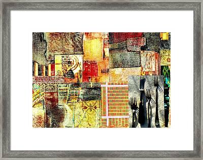 Landscape With Forks Framed Print by Jann Sage