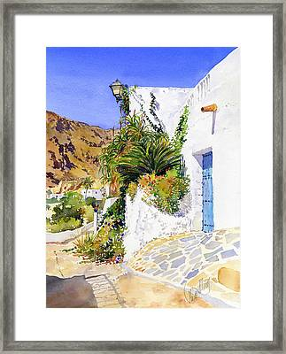 Lane In Nijar Framed Print by Margaret Merry