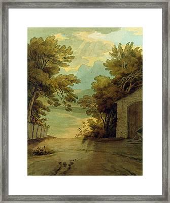 Langdale Pikes Framed Print by John White Abbott