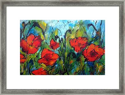 Languedoc Poppies No 2 Framed Print