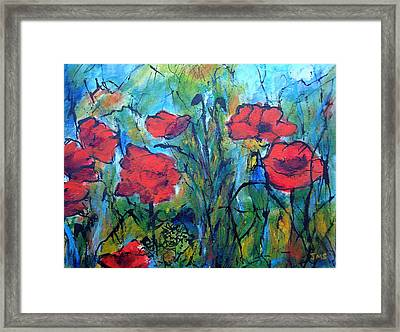 Languedoc Poppies No 4 Framed Print