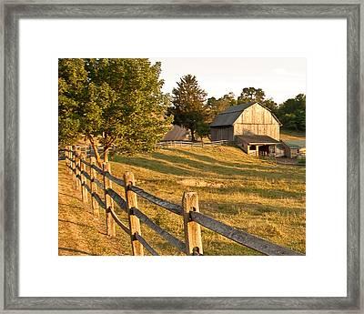 Langus Farm Framed Print by Jim Finch