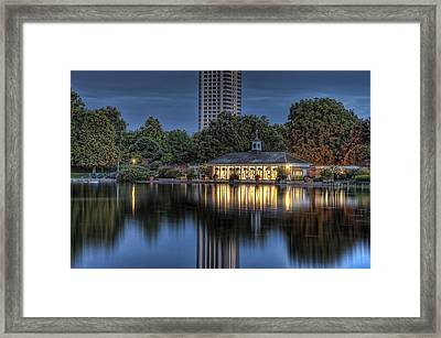 Lansbury's Lido On The Serpentine Framed Print by Noah Katz
