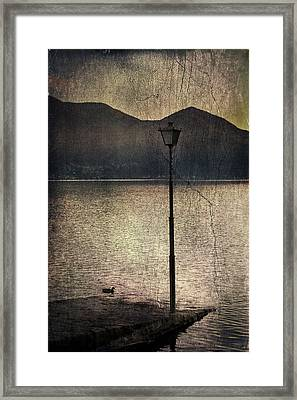 Lantern At The Lake Framed Print