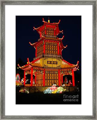 Framed Print featuring the photograph Lantern Lights by Vivian Christopher
