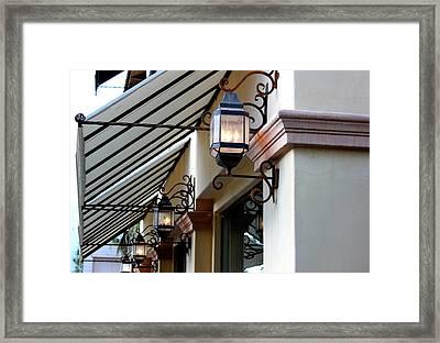 Lanterns And Lines Framed Print