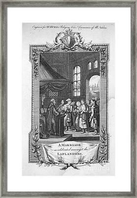 Lapland: Wedding Framed Print by Granger