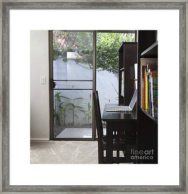 Laptop On A Desk Framed Print by Inti St. Clair