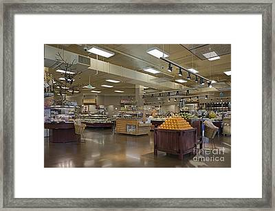 Large And Modern Grocery Store Framed Print by Robert Pisano