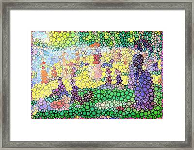 Large Bubbly Sunday On La Grande Jatte Framed Print by Mark Einhorn
