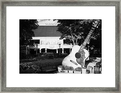 large guitar outside Grand Ole Opry House building Nashville Tennessee USA Framed Print
