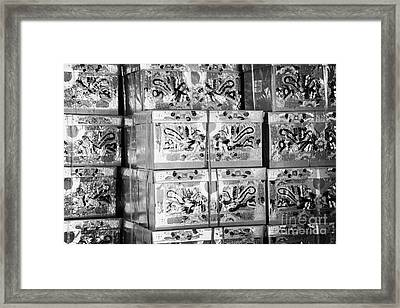 Large Paper Imitation Gift Wrapped Presents Which Can Be Burned As Offerings To The Dead Framed Print by Joe Fox