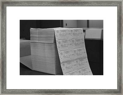 Large Stack Of Computer Generated Framed Print