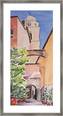 Largo Dell'oratorio Framed Print by Regina Ammerman