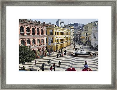 Largo Do Senado (senado Square) Framed Print by Manfred Gottschalk