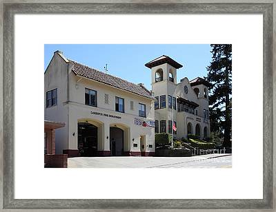 Larkspur Fire Department And City Hall - Larkspur California - 5d18502 Framed Print by Wingsdomain Art and Photography