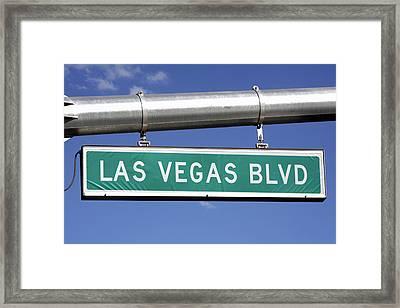 Las Vegas Boulevard Street Sign - The Strip Framed Print
