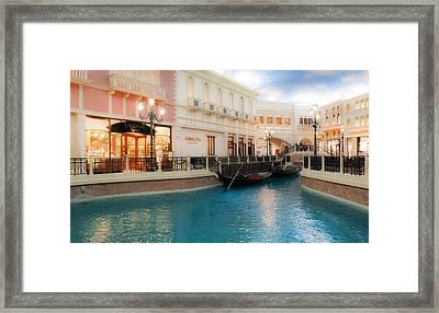 Las Vegas Gondola  Framed Print by Susan Stone