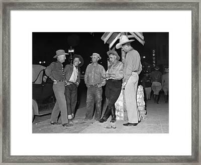 Las Vegas, Nevada, Main Street Corner Framed Print