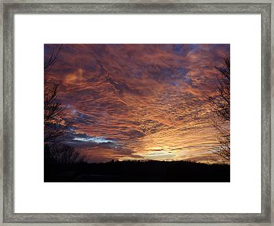 Framed Print featuring the painting Lascassas Sunset Five by Carol Berning
