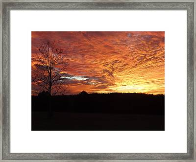 Framed Print featuring the painting Lascassas Sunset Four by Carol Berning