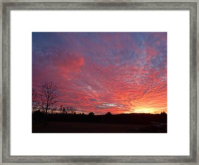 Framed Print featuring the painting Lascassas Sunset One by Carol Berning