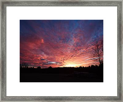 Framed Print featuring the painting Lascassas Sunset Two by Carol Berning