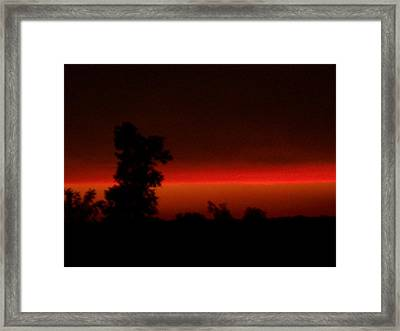 Laser Beam Framed Print by Wide Awake Arts