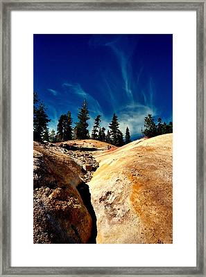 Framed Print featuring the photograph Lassen Volcanic National Park by Peter Mooyman