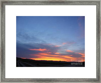 Framed Print featuring the photograph Last Flame by Mark Robbins