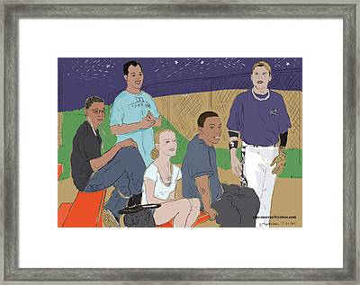 Last Game Of The Season 2011 Framed Print by Susie Morrison