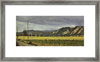 Last Harvest Framed Print by Victoria  Broyles
