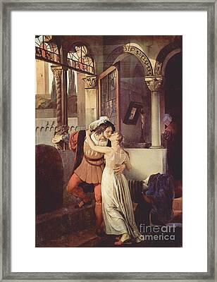 Last Kiss Of Romeo And Juliet Framed Print by Pg Reproductions