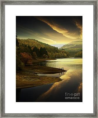 Last Light In The Valley Framed Print by Martin Jones